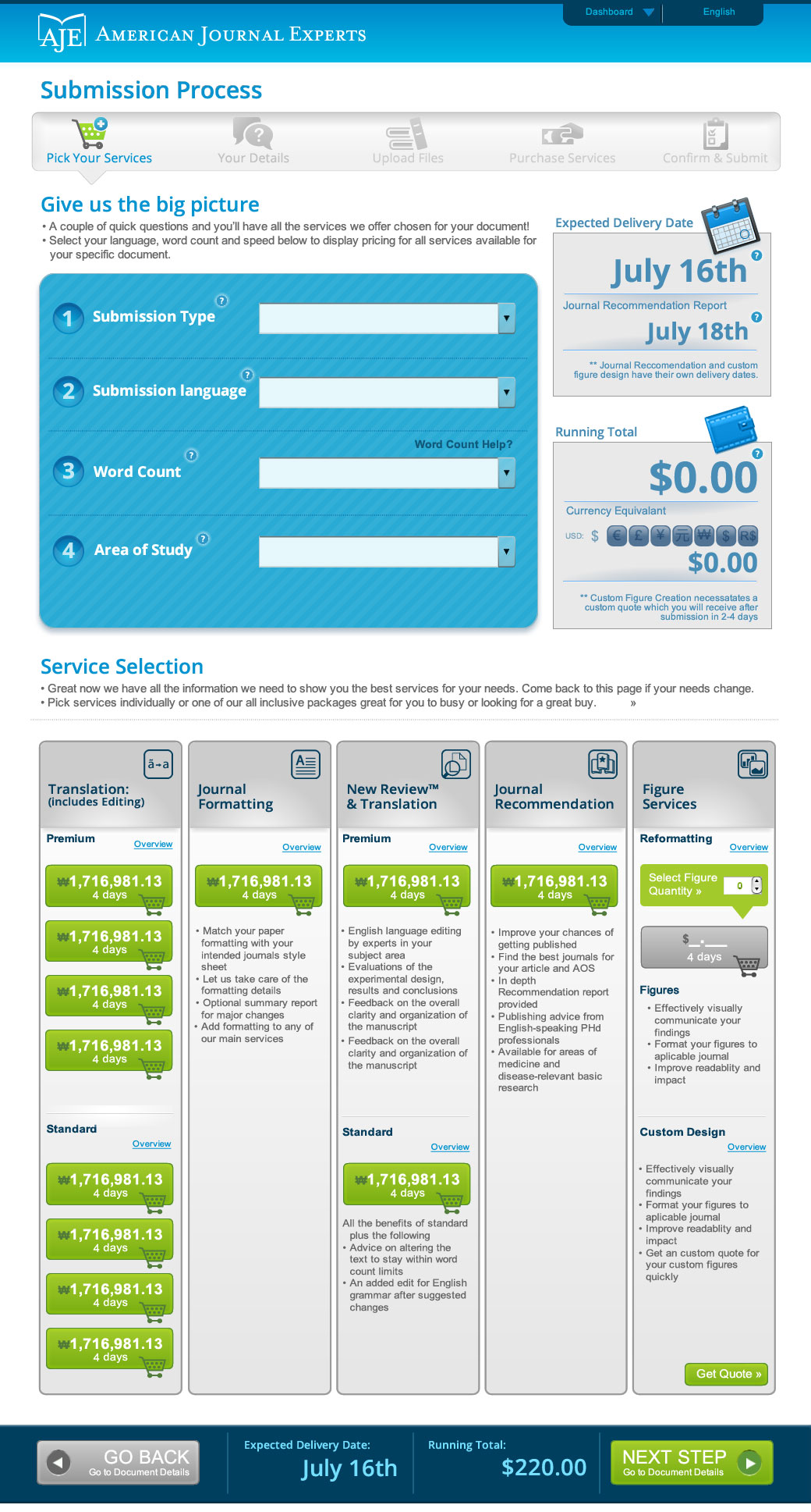 UX full web site comp based on wireframe